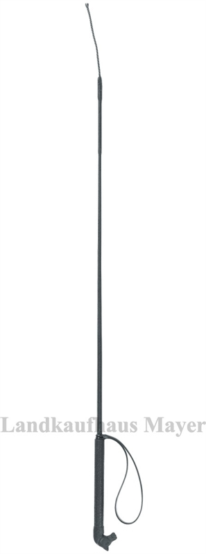 Reitgerte 90cm, m. Kunststoff- Griff in Pferdekopf