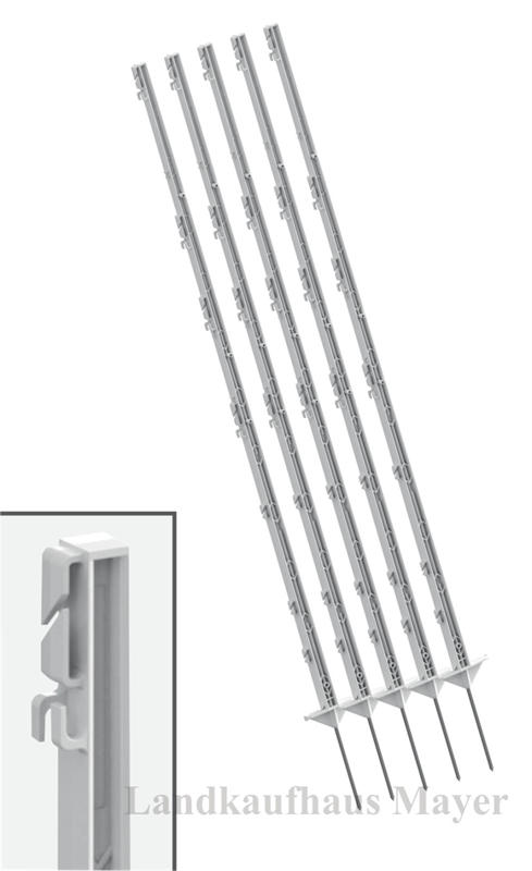 Weidezaunpfähle 156cm weiß 80 St.