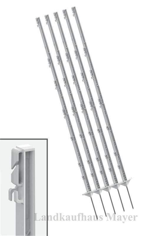 Weidezaunpfähle 156cm weiß 40 St.