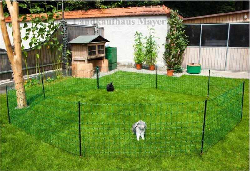 12m hasennetz 1 spitze gr n 65cm hoch stromf landwirtschaft - Rete per gatti giardino ...