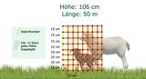 Schafzaun/Hundezaun 50m Doppelspitze stromführend 90cm/106cm
